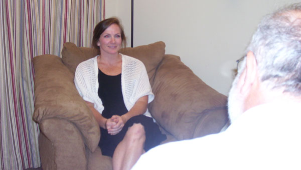 Kara Jones uses a comfortable office at Grace Church in Chelsea to help people who need help through life's hard places. (contributed)