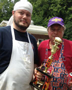 Jim Wathen and his friend, John Hosmer, competed in the Best Butt in Helena Cookoff and used pecan and hickory for their smoking woods. Their team, Boom Shaka-Laka, raised $371 and was the People's Choice winner. (contributed)