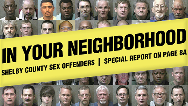 There are currently 135 registered sex offenders living within the county. (Illustration by Amy Baldis)