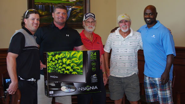 Last year's first place team at the Special Equestrians Celebrity Golf Tournament. (Contributed photo)