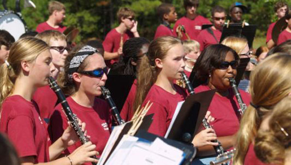 The Chelsea High School Band, under the direction of Band Director Dane Lawley, provided entertainment at Chelsea Day on Oct. 5. (Contributed)