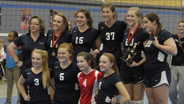 The Evangel Christian Lightning captured the 2013 ACSC volleyball state championship Oct. 26. (Reporter Photo/Drew Granthum)