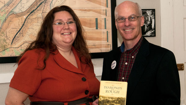 Charity Miller, fundraiser for Helena Historical and Preservation Committee, coordinated the book signing event for Diamonds in the Rough by Dr. James Sanders Day. (contributed)