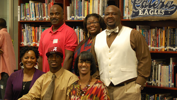 Calera's Ronnie Clark announced his commitment to play football for the University of Alabama Oct. 4.