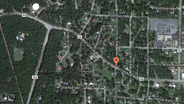 A Sept. 20 police chase in Alabaster came to an end in the 1200 block of First Avenue West. (Contributed)