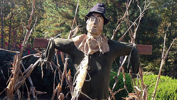 Alabaster resident Brady Talbert makes most of his Halloween decorations from scratch each year. (Contributed)