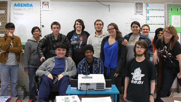 Members of Pelham High School's newly formed Anime Club. (contributed)