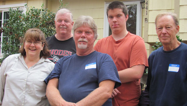 Renee Brown, Bob Hicks, Robert Mills, Jason Mills and Tim McCrorie outside a Habitat for Humanity home. (contributed)