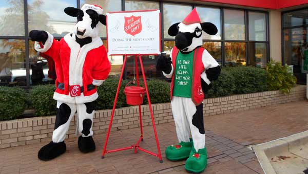 Inverness Chick-fil-A's Santa Cow and little Elf Cow will be on hand for the kick off of the Salvation Army's annual Angel Tree Drive and Red Kettle Drive Nov. 15.