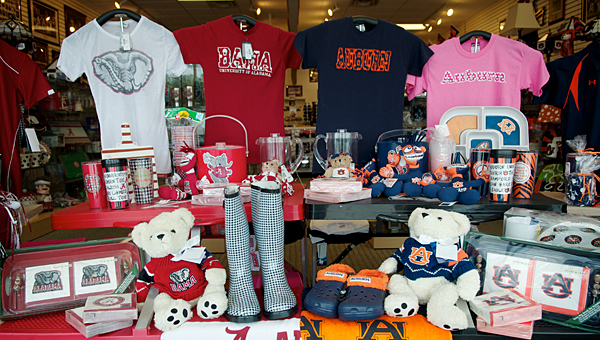 The Campus Spirit store in Alabaster is split down the middle between Auburn and Alabama. (File)