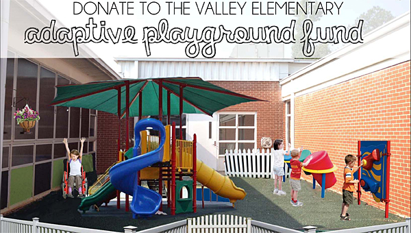 An artist rendering of the adaptive playground proposed for Valley Elementary School. (Contributed)