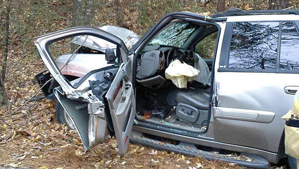 The Pelham police and fire departments responded to a wreck on State Park Road on the morning of Nov. 23. (Contributed/Gary Waters)