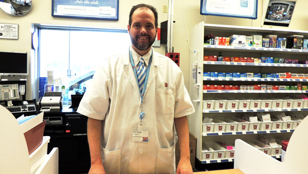 Ready to help patients is Mike Pritchett, PharmD, with Walgreens on Pelham Parkway. (contributed)