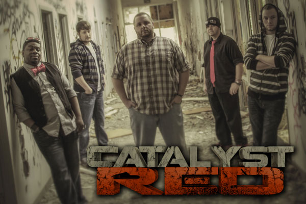 The local band Catalyst Red's first full-length album will be released April 8. From left, Jeremy Ivy, Josh Coffee, Shawn Lackey, Wayne Moss and Brian Lynch. (contributed)