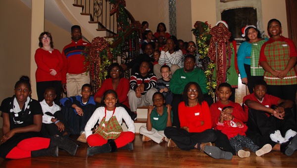 Gregg and Renee Kelley hosted a Christmas celebration at their home for children Dec. 7. (contributed)