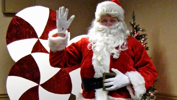 Santa prepares for the children's annual brunch at the Pelham Public Library on Dec. 18. (contributed)