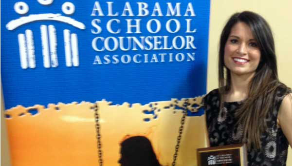 Maegan Vick of Helena Elementary School was named Elementary Counselor of the Year by the Alabama School Counselor Association.