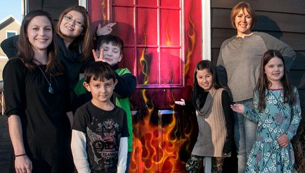 Helena School of Art teachers, Mayumi Murphy, Kat Scarbrough and Shelly Bailey with students Robbie Esquivel, John Gavin Gurdis, Rei Murphy and Ali Calahan. (contributed)