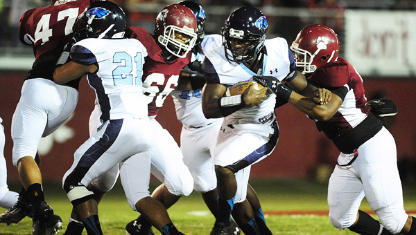 Calera's Ronnie Clark is the 2013 Shleby County Reporter Football Player of the Year. Clark led the Eagles with 16 passing and 19 rushing touchdowns on the year.