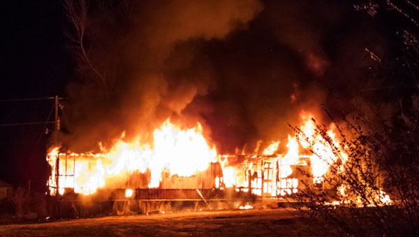 Shelby County's First Battalion responded to a structure fire in Brierfield (Contributed/ Chief Spruce McRee.)