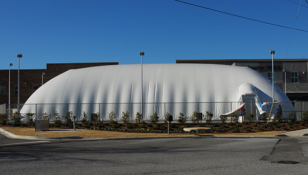 The Alabaster and Inverness YMCA branches feature large inflatable domes to keep swimmers warm in the winter. (Reporter Photo/Neal Wagner)