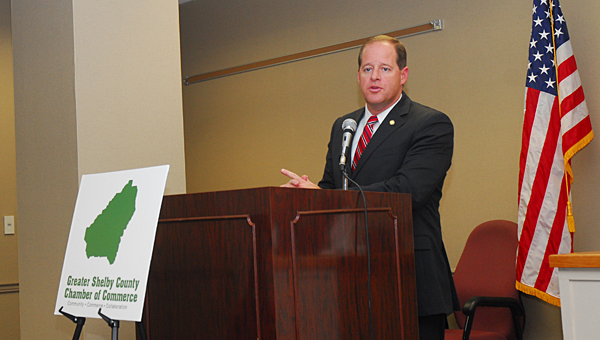 State Sen. Cam Ward (pictured) and six other local legislators shared their thoughts on a gamut of issues during a Jan. 8 legislative preview session at the Greater Shelby County Chamber of Commerce's offices. (Reporter Photo/Neal Wagner)