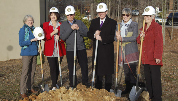 The Friends of the Mt. Laurel Library broke ground for the town's new library Jan. 9 (Reporter Photo / Cassandra Mickens)