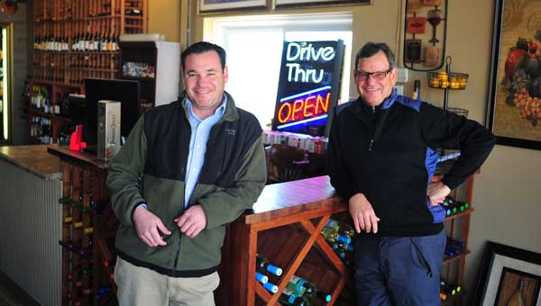 Beau Rourke and Robert Rourke recently opened R&R Wine and Liqour in Calera. (Photo by Jon Goering.)