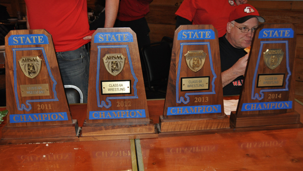 Thompson wrestling has captures the last four AHSAA Class 6A State Championships. The feat was previously accomplished by Vestavia Hills from 1998-2001. (Contributed/Frankie Crim)