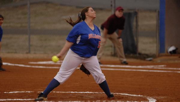 Montevallo's Destiny Upton threw a one-hitter against Indian Springs Feb. 20. (Reporter Photo/Drew Granthum)