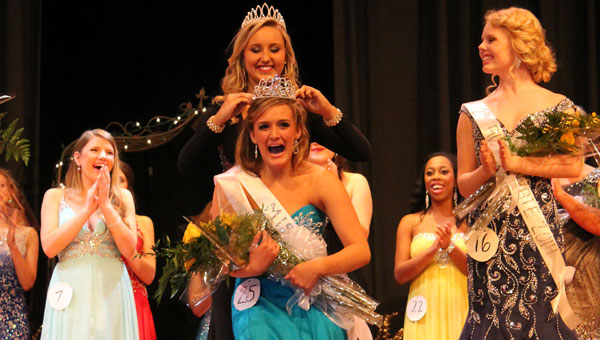 Lydia Cobb is named Miss PHS 2014 during a Feb. 15 pageant at the school. (Contributed)