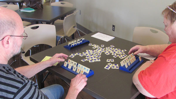Members of the Alabaster Senior Center enjoy a game of Rummikub at the center. (Contributed)