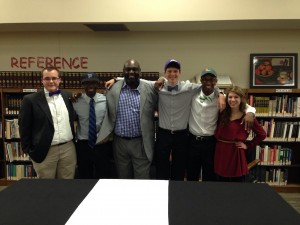 Five Thompson Warriors signed letters of intent Feb. 5. (Contributed)