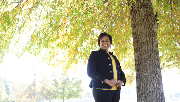 Born and reared in Vincent, Jordan-Smith, 44, is a Vincent city councilwoman and vice president of Leadership Shelby County, in addition to wife, mother, church secretary and child advocate. (Reporter Photo/Jon Goering)