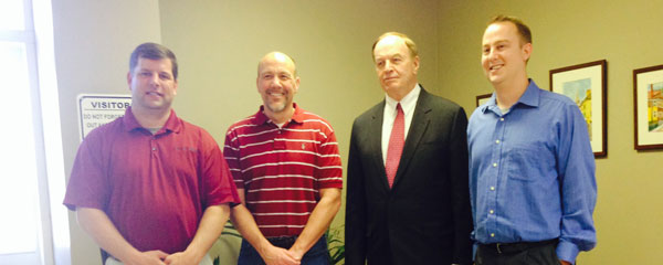 Senator Richard Shelby visited A.C. Legg as part of his statewide business tour.