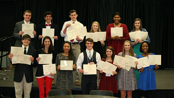 Several groups from Alabaster and Shelby County schools, including the THS TV broadcast group, earned honors in a recent competition. (Contributed)