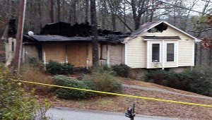 Most of the house's roof was destroyed in the fire. (Contributed)