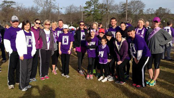 Photo Caption: Chelsea's Mt. Laurel Elementary School fields a 30-member PanCan team to support their local teacher and raise money in the PurpleStride 5K and Fun Run for pancreatic cancer. (contributed)