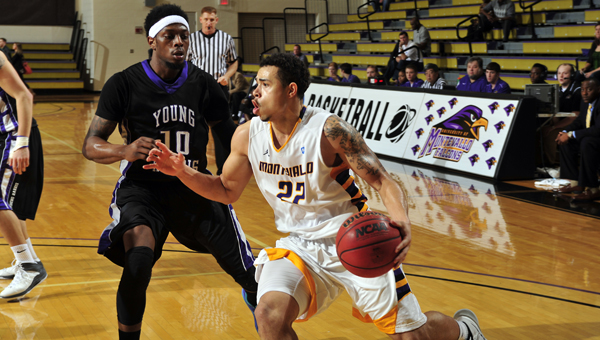 Ryan May (22) and the rest of the Montevallo men's basketball team will face Georgia Southwestern, the No. 6 seed, in the NCAA Division II Southeast Region tournament quarterfinals Saturday, March 15 at the USC Aiken Convocation Center in Aiken, S.C. (Contributed/University of Montevallo)