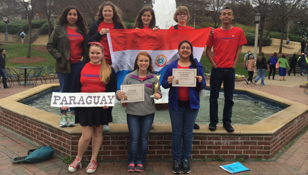 RMS students attend the Junior United Nations of Alabama General Assembly at Birmingham Southern College (contributed).