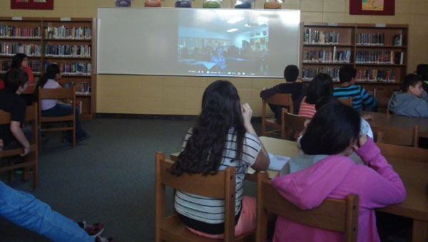 RMS students Skype with Canadian students (contributed).