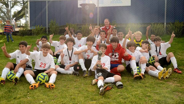 The Thompson Middle School boys' soccer team took home the 13th annual Buccaneer Bash in Fairhope March 8.  (Contributed)