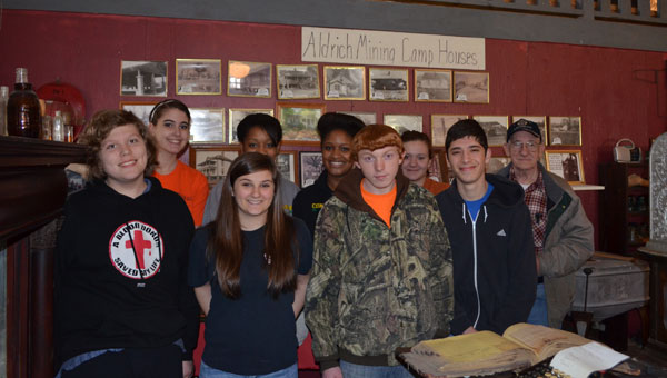 University of Montevallo Upward Bound students recently participated in community service by assisting Aldrich Coal Mine Museum owner and curator Henry Emfinger with projects on the property. (Contributed)