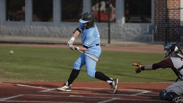 Spain Park's John Sumner swings at a pitch in the Hoover Buccaneer Classic baseball tournament. The Jags finished runner-up in to Cullman. (Reporter Photo/Drew Granthum)