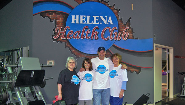 Terry Brasseale, second from right, and staff opened Helena Health Club March 27. The new fitness center is open every day and offers a variety of classes for all fitness levels. (Reporter Photo / Molly Davidson)