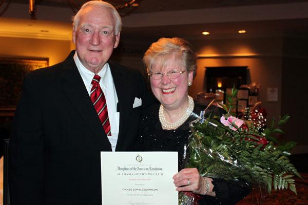 Phoebe, winner of the prestigious Rose Recipient award, and her husband, Red. (contributed)