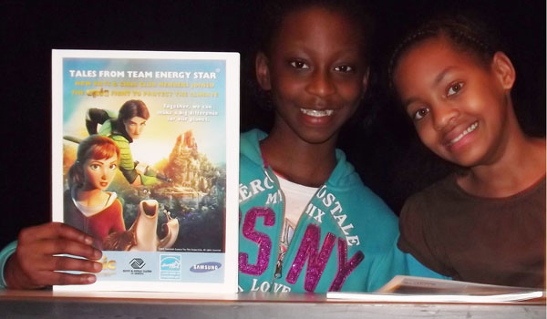 """MyCaya Jones, left, and Jazmine Williams, right, both submitted poems featured in the book """"Tales from Team ENERGY STAR"""" (contributed)."""