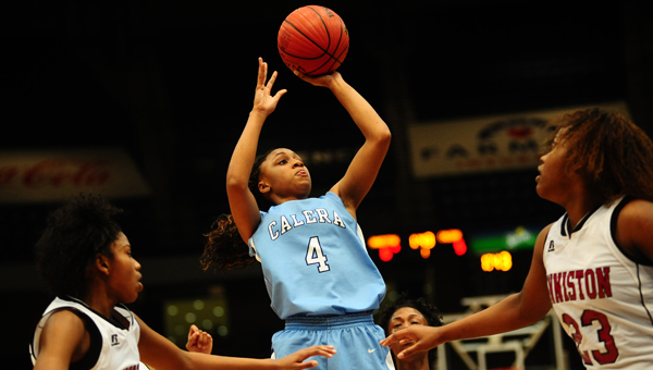 Calera's Tyesha Haynes was named the 2014 Shelby County Reporter Player of the Year for girls basketball. (Reporter Photo/Jon Goering)