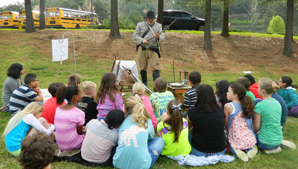 On April 11, Valley Intermediate students experienced Civil War history first hand through a living history presentation put on by practiced Civil War re-enactors. (Contributed / Karen Winn)