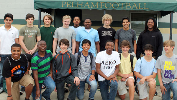 Members of the Pelham High School freshmen football team are ready to take the next step in their school careers. (Contributed)